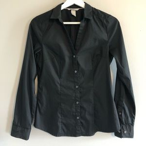 H&M Black Button Down Shirt - Size 6